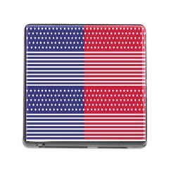 American Flag Patriot Red White Memory Card Reader (square)