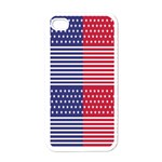 American Flag Patriot Red White Apple iPhone 4 Case (White) Front