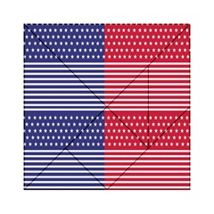 American Flag Patriot Red White Acrylic Tangram Puzzle (6  X 6 )