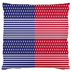 American Flag Patriot Red White Large Flano Cushion Case (one Side)