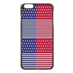 American Flag Patriot Red White Apple Iphone 6 Plus/6s Plus Black Enamel Case