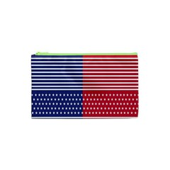 American Flag Patriot Red White Cosmetic Bag (xs)