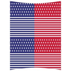 American Flag Patriot Red White Back Support Cushion