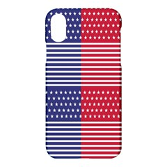 American Flag Patriot Red White Apple Iphone X Hardshell Case