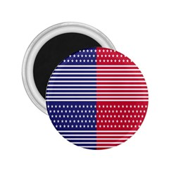 American Flag Patriot Red White 2 25  Magnets