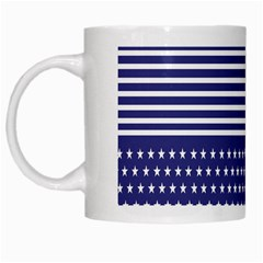 American Flag Patriot Red White White Mugs
