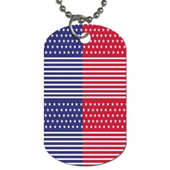 American Flag Patriot Red White Dog Tag (one Side)