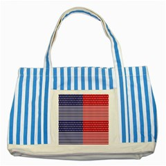 American Flag Patriot Red White Striped Blue Tote Bag