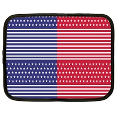 American Flag Patriot Red White Netbook Case (large)