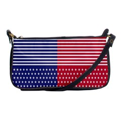American Flag Patriot Red White Shoulder Clutch Bags