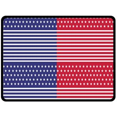 American Flag Patriot Red White Fleece Blanket (large)