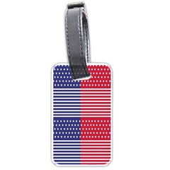 American Flag Patriot Red White Luggage Tags (one Side)