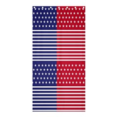 American Flag Patriot Red White Shower Curtain 36  X 72  (stall)
