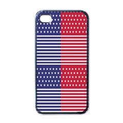 American Flag Patriot Red White Apple Iphone 4 Case (black)