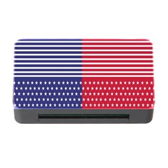 American Flag Patriot Red White Memory Card Reader With Cf
