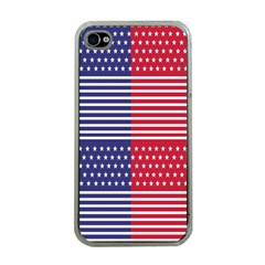 American Flag Patriot Red White Apple Iphone 4 Case (clear)