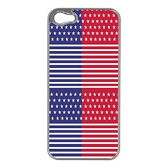 American Flag Patriot Red White Apple Iphone 5 Case (silver)