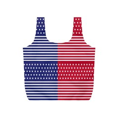 American Flag Patriot Red White Full Print Recycle Bags (s)