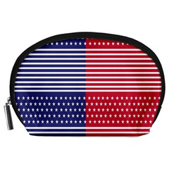 American Flag Patriot Red White Accessory Pouches (large)