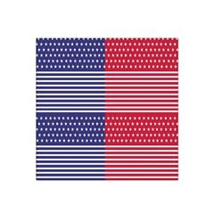 American Flag Patriot Red White Satin Bandana Scarf