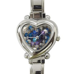 Cube Cubic Design 3d Shape Square Heart Italian Charm Watch