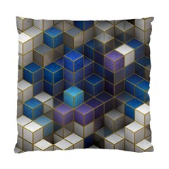 Cube Cubic Design 3d Shape Square Standard Cushion Case (two Sides)