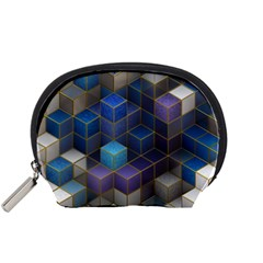 Cube Cubic Design 3d Shape Square Accessory Pouches (small)