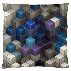 Cube Cubic Design 3d Shape Square Large Flano Cushion Case (one Side)