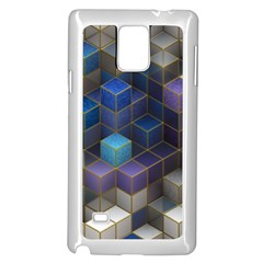 Cube Cubic Design 3d Shape Square Samsung Galaxy Note 4 Case (white)