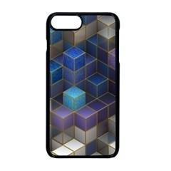 Cube Cubic Design 3d Shape Square Apple Iphone 8 Plus Seamless Case (black)
