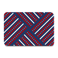 Patriotic Red White Blue Stars Plate Mats