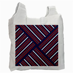 Patriotic Red White Blue Stars Recycle Bag (two Side)