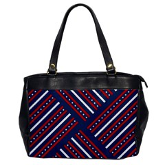 Patriotic Red White Blue Stars Office Handbags