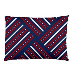 Patriotic Red White Blue Stars Pillow Case (two Sides)
