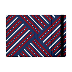Patriotic Red White Blue Stars Apple Ipad Mini Flip Case