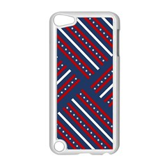 Patriotic Red White Blue Stars Apple Ipod Touch 5 Case (white)