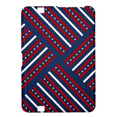 Patriotic Red White Blue Stars Kindle Fire Hd 8 9