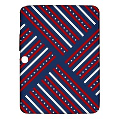 Patriotic Red White Blue Stars Samsung Galaxy Tab 3 (10 1 ) P5200 Hardshell Case