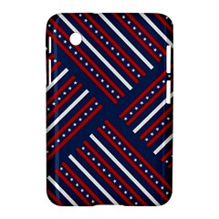 Patriotic Red White Blue Stars Samsung Galaxy Tab 2 (7 ) P3100 Hardshell Case