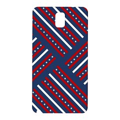 Patriotic Red White Blue Stars Samsung Galaxy Note 3 N9005 Hardshell Back Case