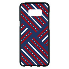 Patriotic Red White Blue Stars Samsung Galaxy S8 Plus Black Seamless Case