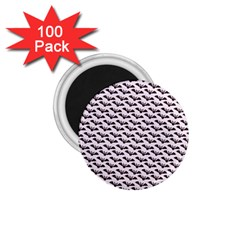 Halloween Lilac Paper Pattern 1 75  Magnets (100 Pack)