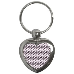 Halloween Lilac Paper Pattern Key Chains (heart)