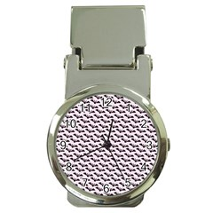 Halloween Lilac Paper Pattern Money Clip Watches