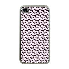 Halloween Lilac Paper Pattern Apple Iphone 4 Case (clear)
