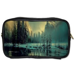 Yosemite Park Landscape Sunrise Toiletries Bags 2 Side