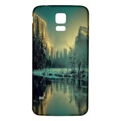 Yosemite Park Landscape Sunrise Samsung Galaxy S5 Back Case (white)