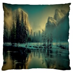 Yosemite Park Landscape Sunrise Large Flano Cushion Case (one Side)