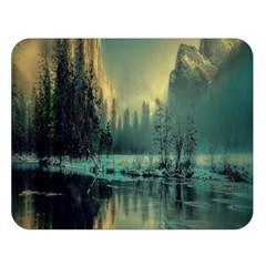 Yosemite Park Landscape Sunrise Double Sided Flano Blanket (large)