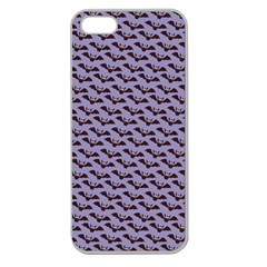 Bat Halloween Lilac Paper Pattern Apple Seamless Iphone 5 Case (clear)